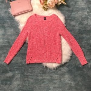 Gap Punch Red & White Classic Sweater Size S
